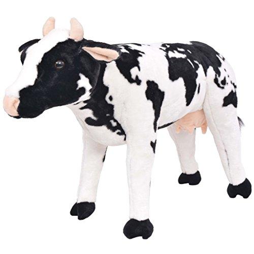 vidaXL Vaca de Peluche Grande de Pie Talla...