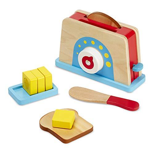 Melissa & Doug Bread & Butter Toaster Set,...