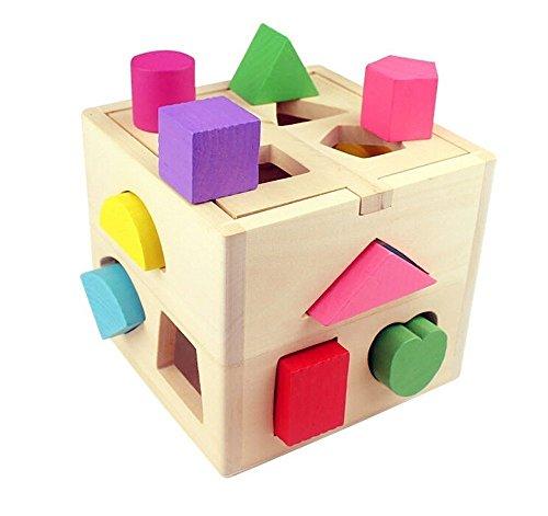 Gearmax Cubo de Madera con Formas para Bebés...