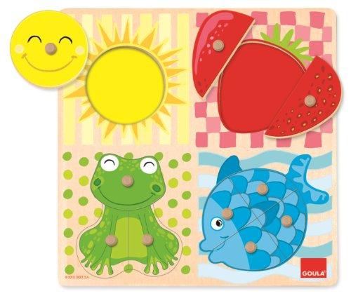 Goula 53110, Puzzle 4 Colores, Piezas de...