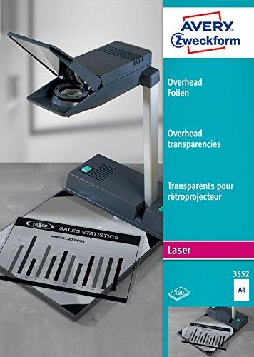 Avery 3552 Laser A4 (210×297 mm) Poliéster...
