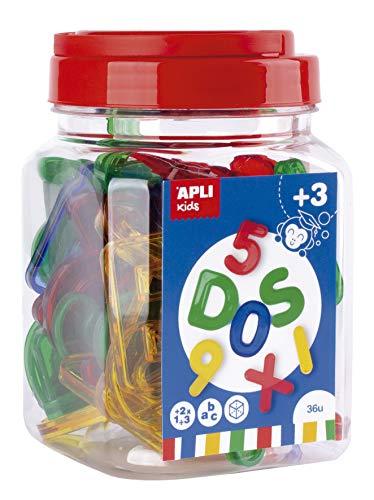 APLI Kids - Letras y números transparentes...