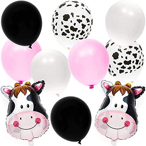 Globos con estampado de vaca para niños y...