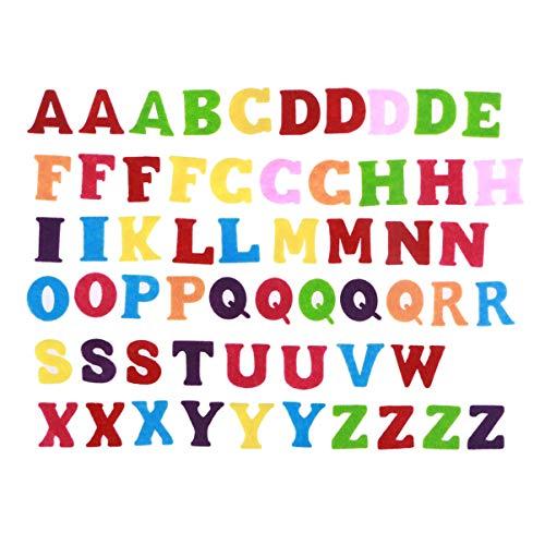 EXCEART 50 letras del abecedario de fieltro...