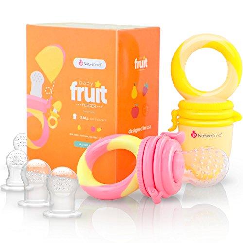 Alimentador antiahogo bebe, chupete fruta...