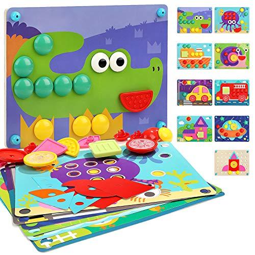 Nene Toys - Puzzle Infantil de Madera 8 en 1...
