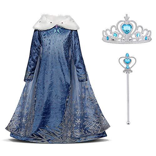 URAQT Disfraz de Elsa, Vestido de Princesa...