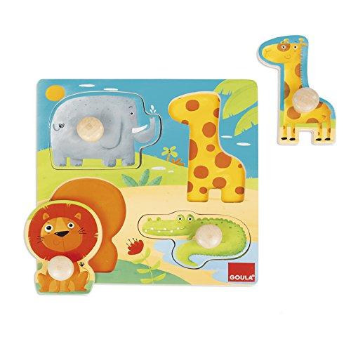 Goula- Animales Selva Conjunto de Puzzles,...