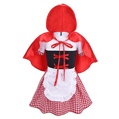 ranrann Disfraz de Caperucita Roja para Niña...