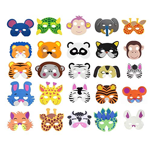 Cosoro - 25 máscaras de animales de espuma...