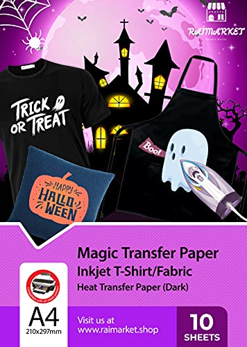 Raimarket Papel Transfer para camisetas   10...