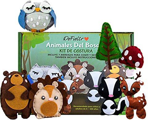 DeFieltro Animales del Bosque - Kit de...