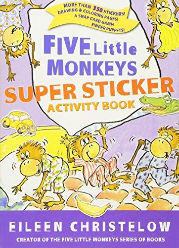 Five Little Monkeys Super Sticker Activity...