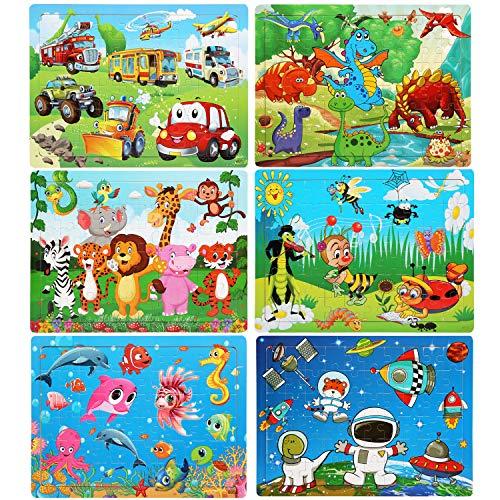 LEADSTAR Puzzles de Madera, 6x60 Piezas...