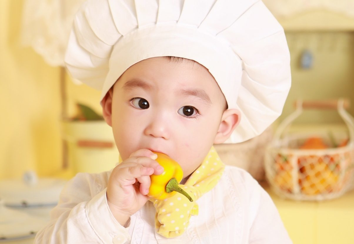 niños y verduras