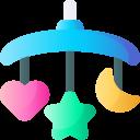 Movil cuna icono