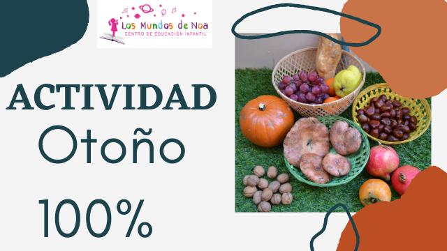 Cesto con frutos tipicos del otoño