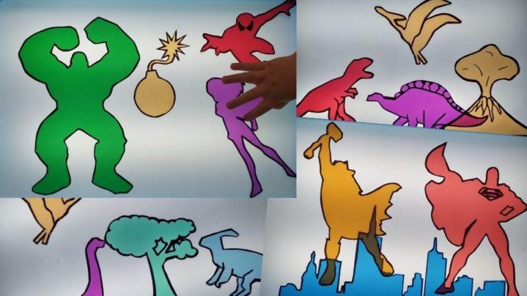 Silueta de colores para juego de sombras en mesa de luz