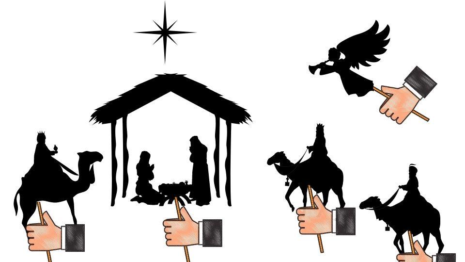 Plantillas de teatro de sombras sobre la Navidad