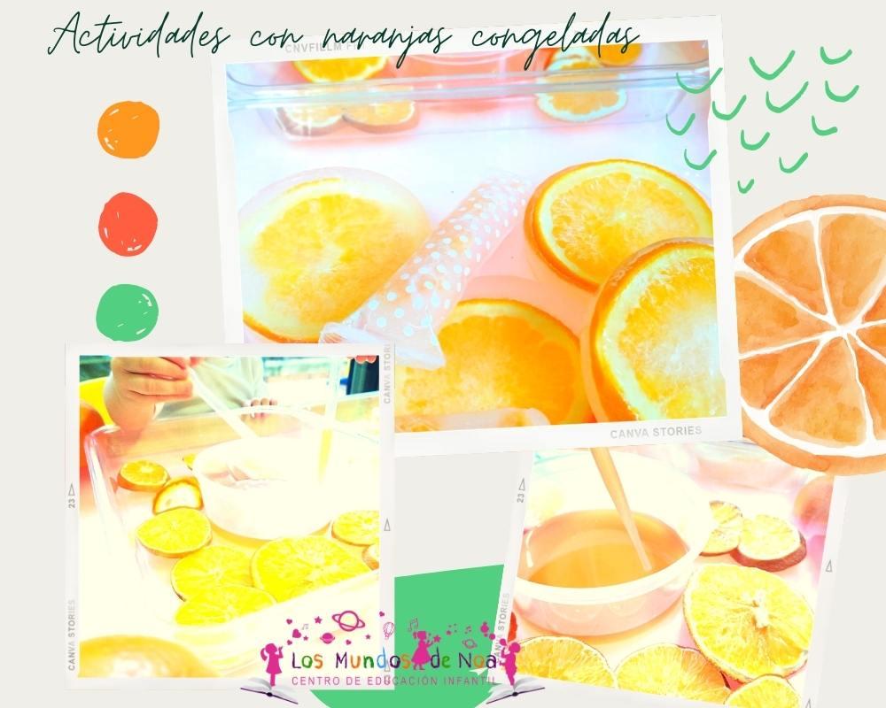 Juegos con naranjas congeladas