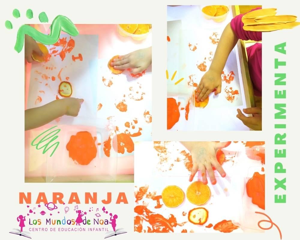 pintar con naranjas