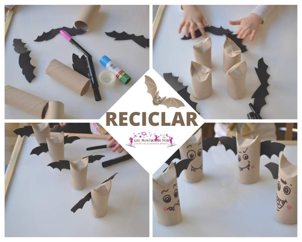 manualidad reciclaje con rollos de papel
