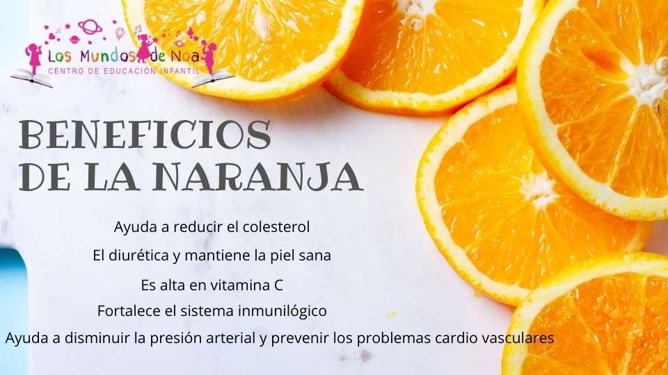 aporte de la naranja