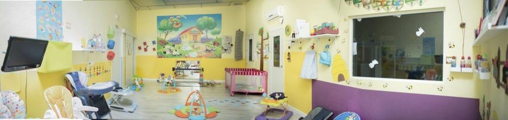 Panorámica clase amarilla en la guardería de Albacete los mundos de Noa