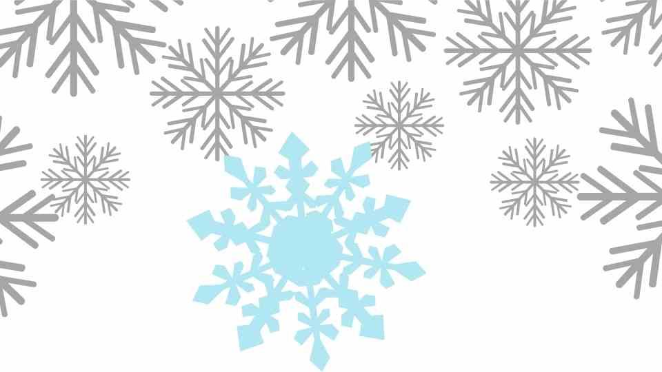 dibujo copos de nieve