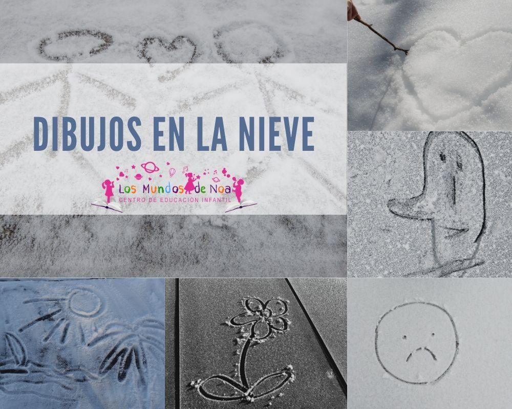 dibujos simples en la nieve
