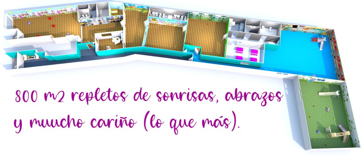 Instalaciones de la guardería Los Mundos de Noa en Albacete