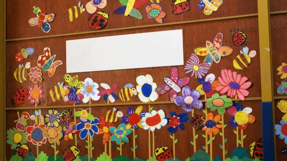 mural infantil primavera