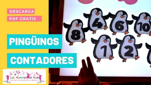 Pingüinos para contar del 1 al 10