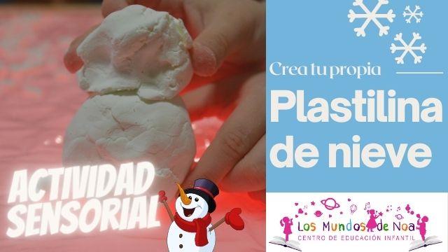 muñeco de nieve de plastilina