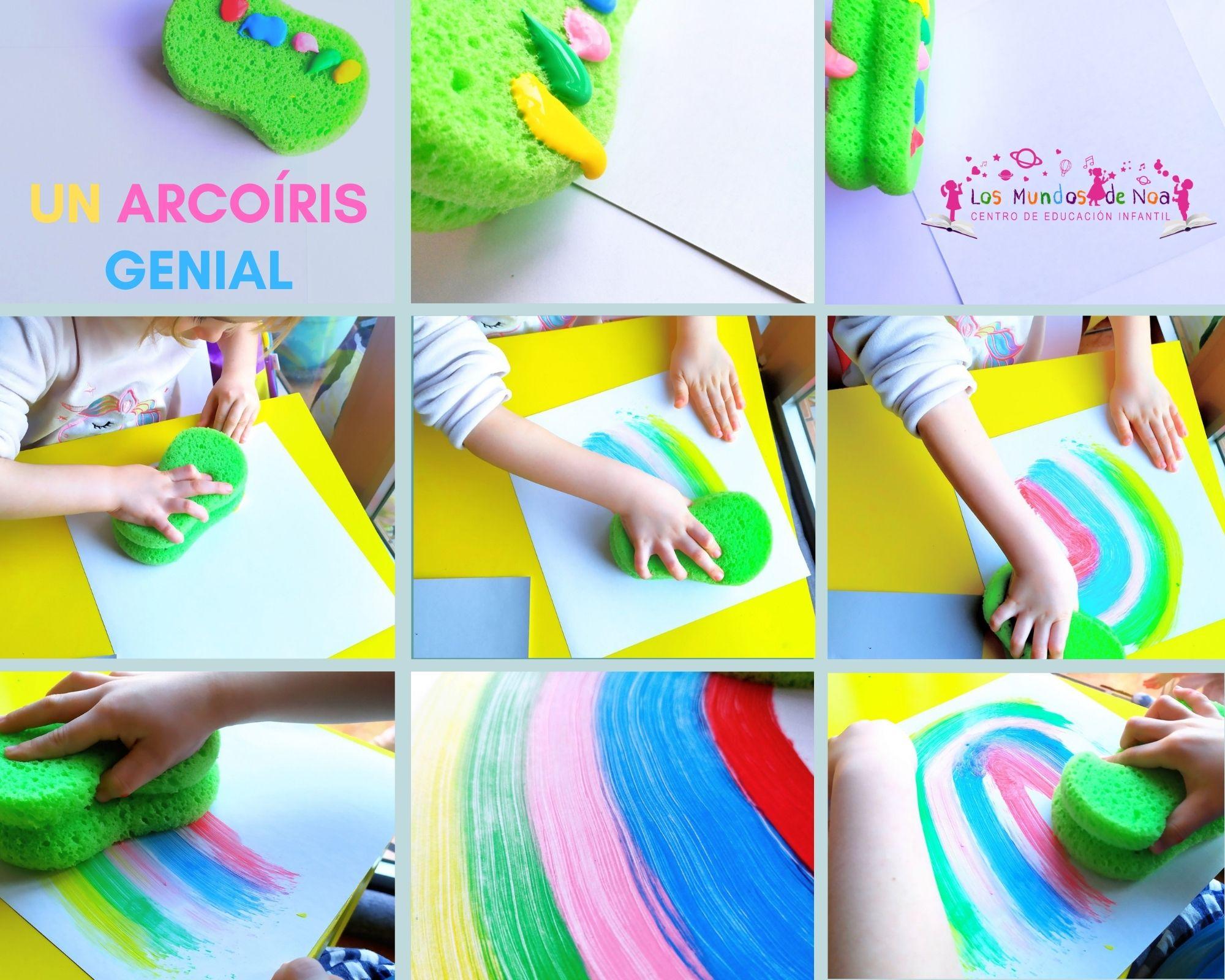 actividad infantil arcoíris de colores