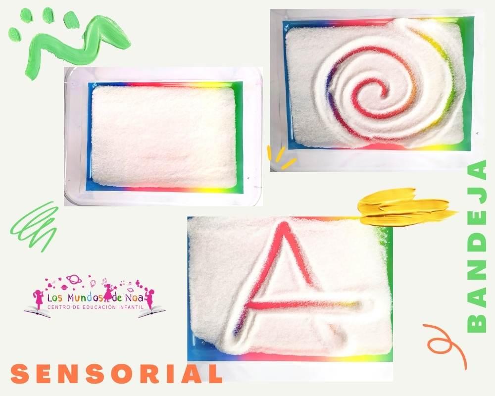 actividad sensorial con sal para educación infantil
