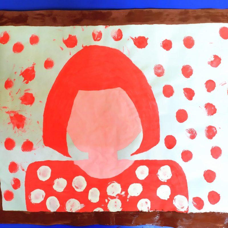 Obra de Yayoi Kusama para niños. Clase de 0-1 años