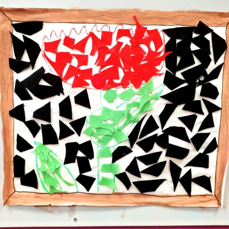 Obra de Yayoi Kusama para niños. Clase de 2-3 años