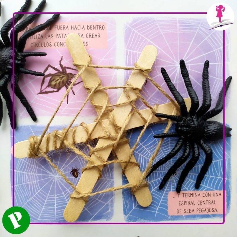 araña de plástico
