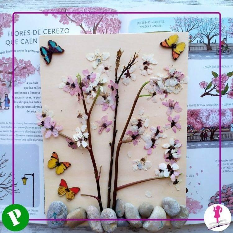 hacemos un cerezo con flores