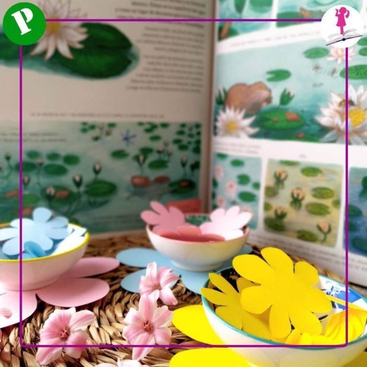 cuento con flores de papel