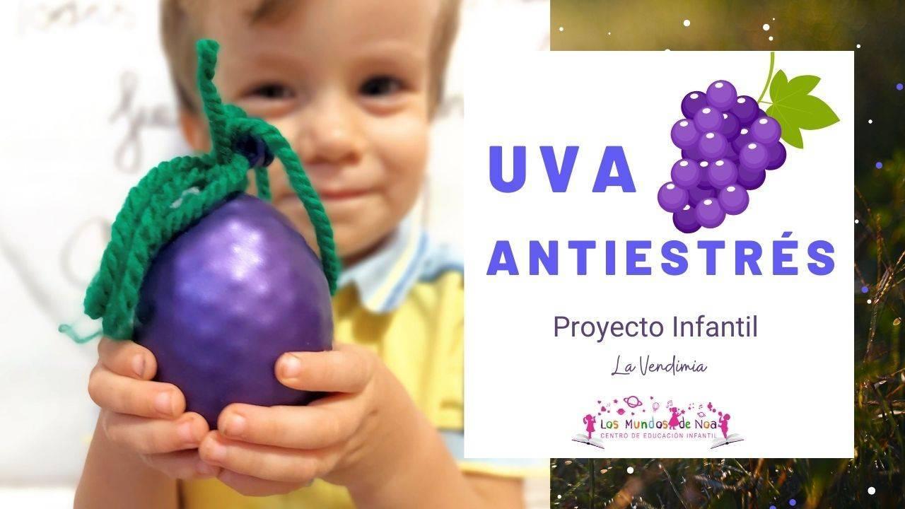 Pelota antiestrés con forma de uva