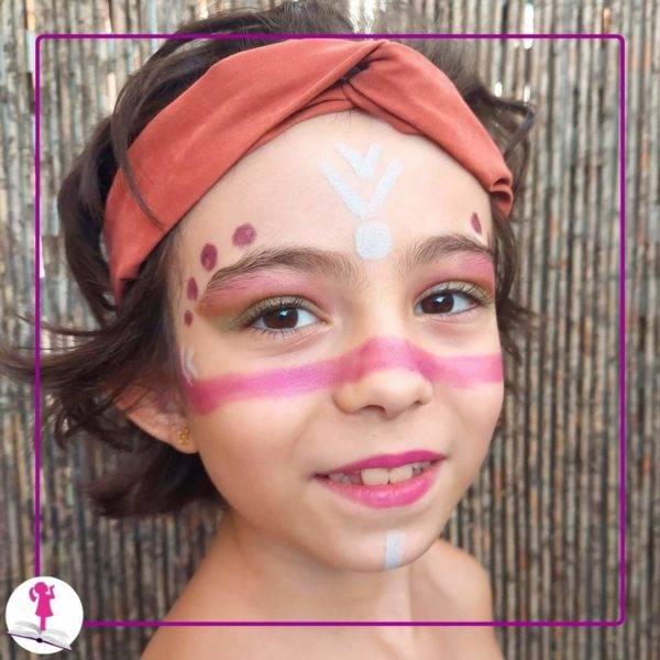niña pintada de india