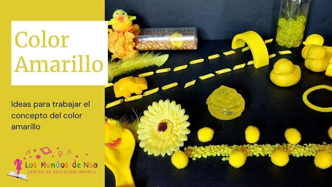 actividades infantiles de color amarillo